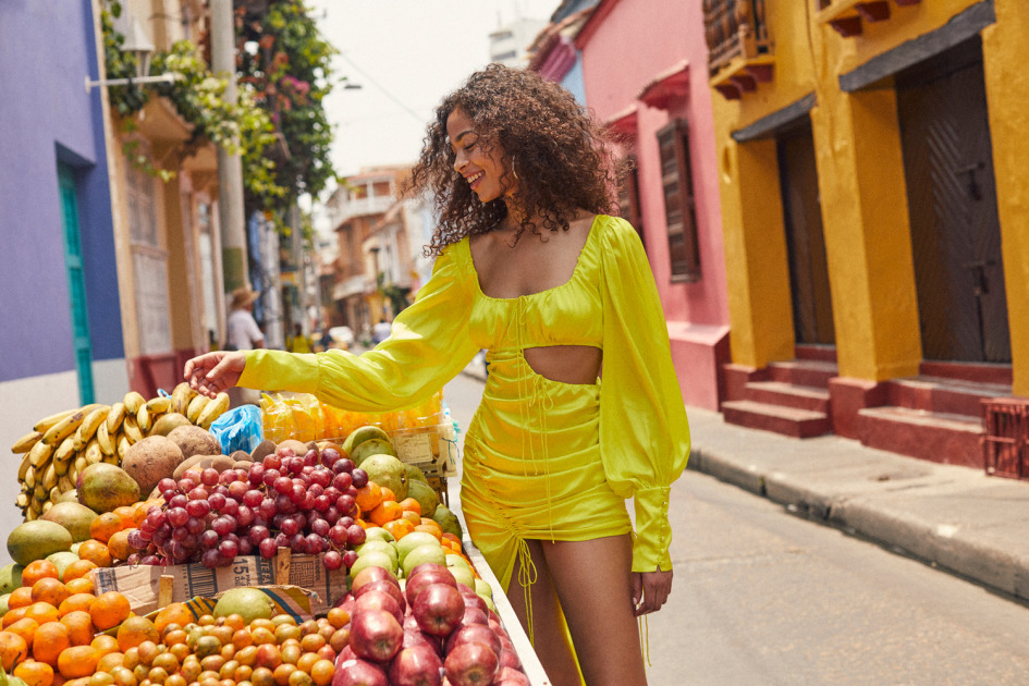 Campaign production in Cartagena for Love and Lemons with Zoey Grossman